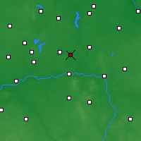 Nearby Forecast Locations - Ślesin - mapa