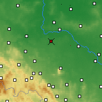 Nearby Forecast Locations - Środa Śląska - mapa