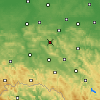 Nearby Forecast Locations - Strzyżów - mapa