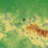 Nearby Forecast Locations - Zawidów - mapa