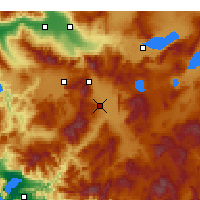 Nearby Forecast Locations - Acıpayam - mapa