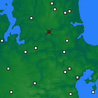 Nearby Forecast Locations - Hobro - mapa