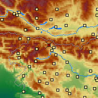 Nearby Forecast Locations - Jesenice - mapa