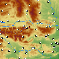 Nearby Forecast Locations - Prevalje - mapa