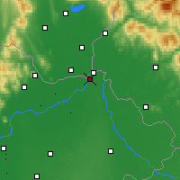 Nearby Forecast Locations - Kisvárda - mapa