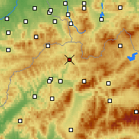 Nearby Forecast Locations - Krásno nad Kysucou - mapa