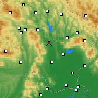 Nearby Forecast Locations - Vranov nad Topľou - mapa