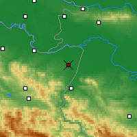 Nearby Forecast Locations - Bijeljina - mapa