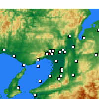 Nearby Forecast Locations - Itami - mapa
