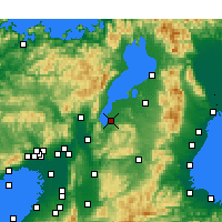 Nearby Forecast Locations - Kusatsu - mapa
