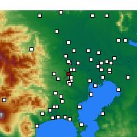 Nearby Forecast Locations - Higashikurume - mapa