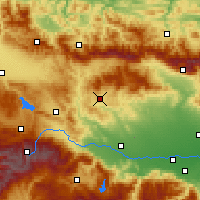 Nearby Forecast Locations - Panagjuriszte - mapa