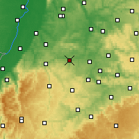 Nearby Forecast Locations - Vaihingen an der Enz - mapa