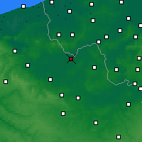 Nearby Forecast Locations - Armentières - mapa