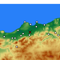 Nearby Forecast Locations - Sidi Moussa - mapa