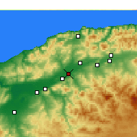 Nearby Forecast Locations - Oued Sly - mapa