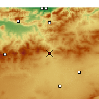 Nearby Forecast Locations - Kasr al-Buchari - mapa