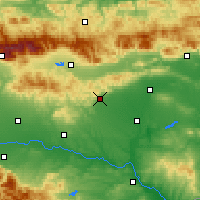 Nearby Forecast Locations - Stara Zagora - mapa
