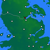 Nearby Forecast Locations - Kruså - mapa