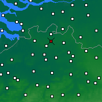 Nearby Forecast Locations - Rijkevorsel - mapa