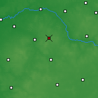 Nearby Forecast Locations - Sokołów Podlaski - mapa