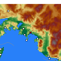Nearby Forecast Locations - Göcek - mapa