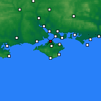 Nearby Forecast Locations - Cowes - mapa