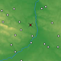 Nearby Forecast Locations - Ożarów - mapa