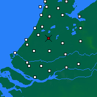 Nearby Forecast Locations - Alphen aan den Rijn - mapa