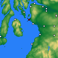 Nearby Forecast Locations - Firth of Clyde - mapa