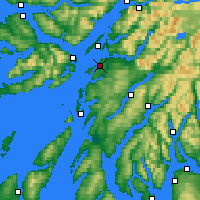 Nearby Forecast Locations - Oban - mapa