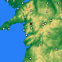 Nearby Forecast Locations - Llyn Trawsfynydd - mapa