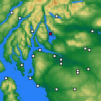Nearby Forecast Locations - Loch Lomond - mapa