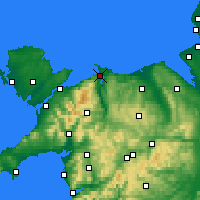 Nearby Forecast Locations - Conwy - mapa