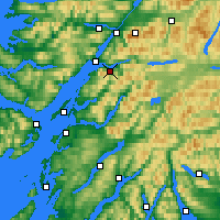 Nearby Forecast Locations - Ballachulish - mapa