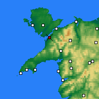 Nearby Forecast Locations - Caernarfon - mapa