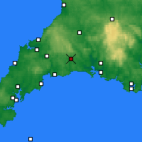 Nearby Forecast Locations - Liskeard - mapa