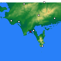 Nearby Forecast Locations - Sandy Point - mapa