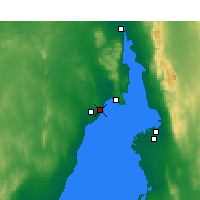 Nearby Forecast Locations - Whyalla - mapa
