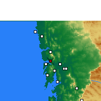 Nearby Forecast Locations - Navghar - mapa