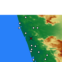Nearby Forecast Locations - Thrissur - mapa