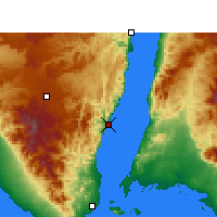 Nearby Forecast Locations - Dahab - mapa