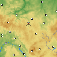 Nearby Forecast Locations - Jezioro Bleilochtalsperre - mapa