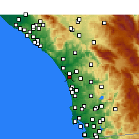 Nearby Forecast Locations - Carlsbad - mapa