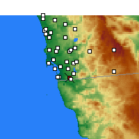 Nearby Forecast Locations - San Diego AP/B - mapa