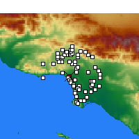 Nearby Forecast Locations - Santa Monica - mapa