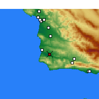 Nearby Forecast Locations - Lompoc Airport - mapa