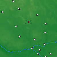 Nearby Forecast Locations - Ciechanów - mapa