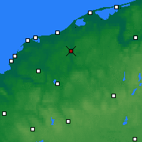Nearby Forecast Locations - Słupsk - mapa