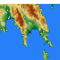 Nearby Forecast Locations - Gytheio - mapa